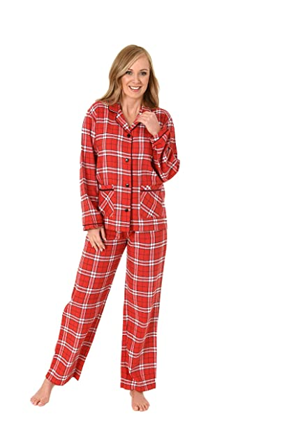 Normann Copenhagen Damen Flanell Pyjama Langarm Karodesign - 271 201 95 001