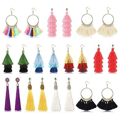 1Paire Femmes Boucles D/'oreilles Coeur Earring Décoration Bijoux Bohème Mariage