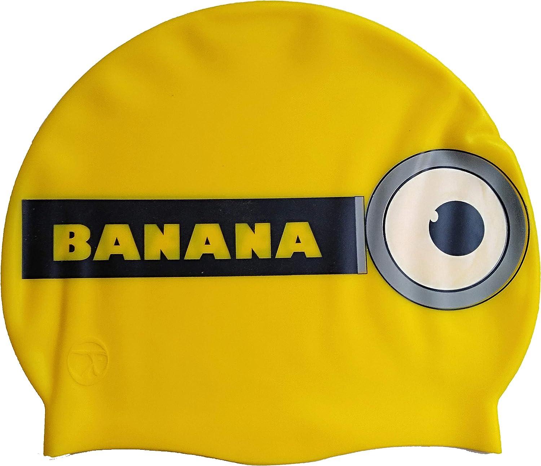 Gorro de silicona Banana | Gorro de Natación| Alta comodidad y adherencia | Diseño y estilo italiano: Amazon.es: Deportes y aire libre