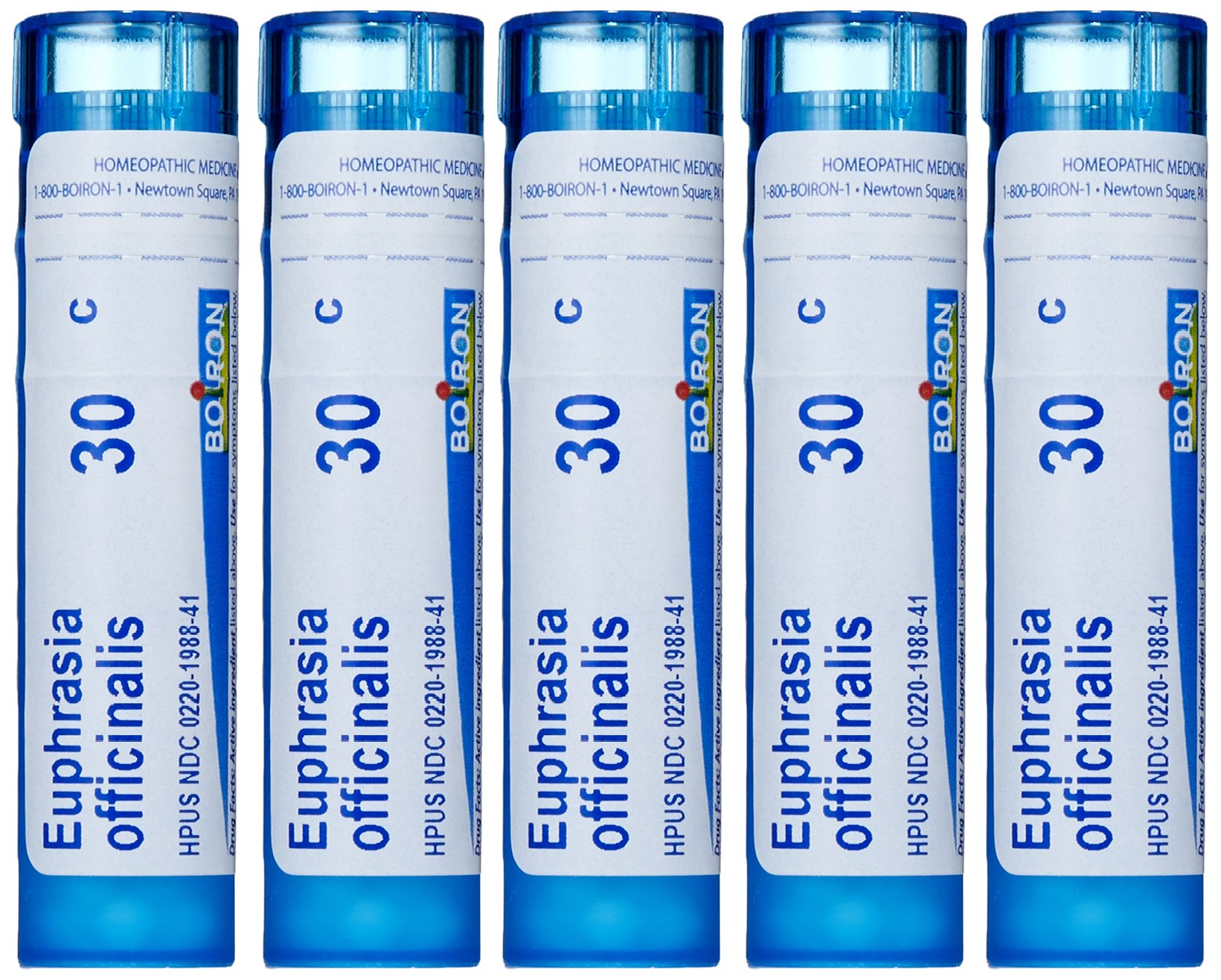 Boiron Euphrasia Officinalis 30C (Pack of 5), Homeopathic Medicine for Eye Discharge