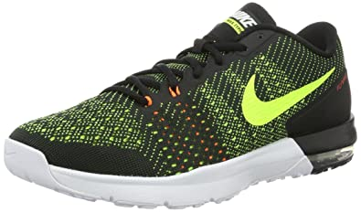 Nike Mens Air Max Typha Training Shoe Black Volt Total Orange White Size