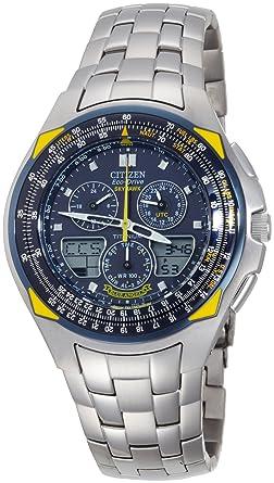 4b521d0204564 Image Unavailable. Image not available for. Color  Citizen Men s Eco-Drive  Blue Angels Skyhawk Watch ...