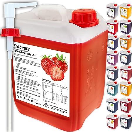 C.P. Sports Getränkekonzentrat 5 Liter Getränke Sirup Electrolyte Mineral-Vitamin Konzentrat versch. Sorten inkl. DOSIERSPEND