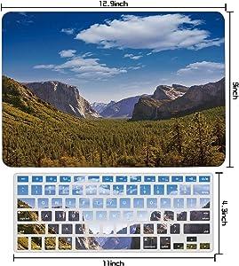 Yosemite El Capitan and Half Dome in National Parks Us,MacBook Air 13 Inch Case MacBook Air 13 Inch Case Air 13/A1466,A1369