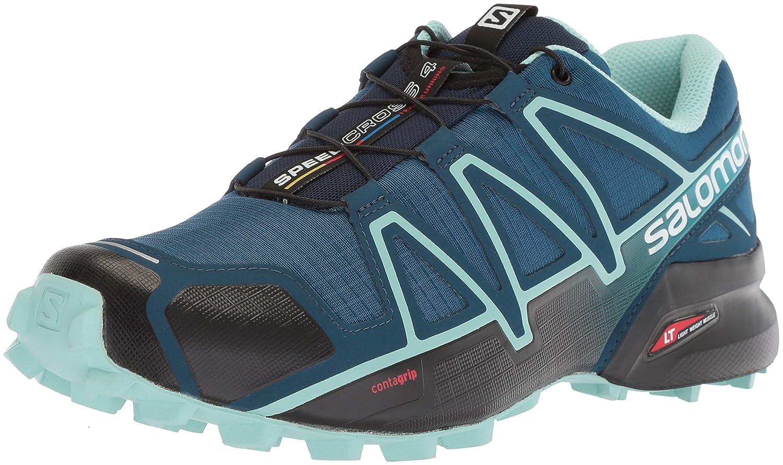 Salomon Women's Speedcross 4 Wide W Trail Running Shoe B073K2R5GM 10.5 W US|Poseidon