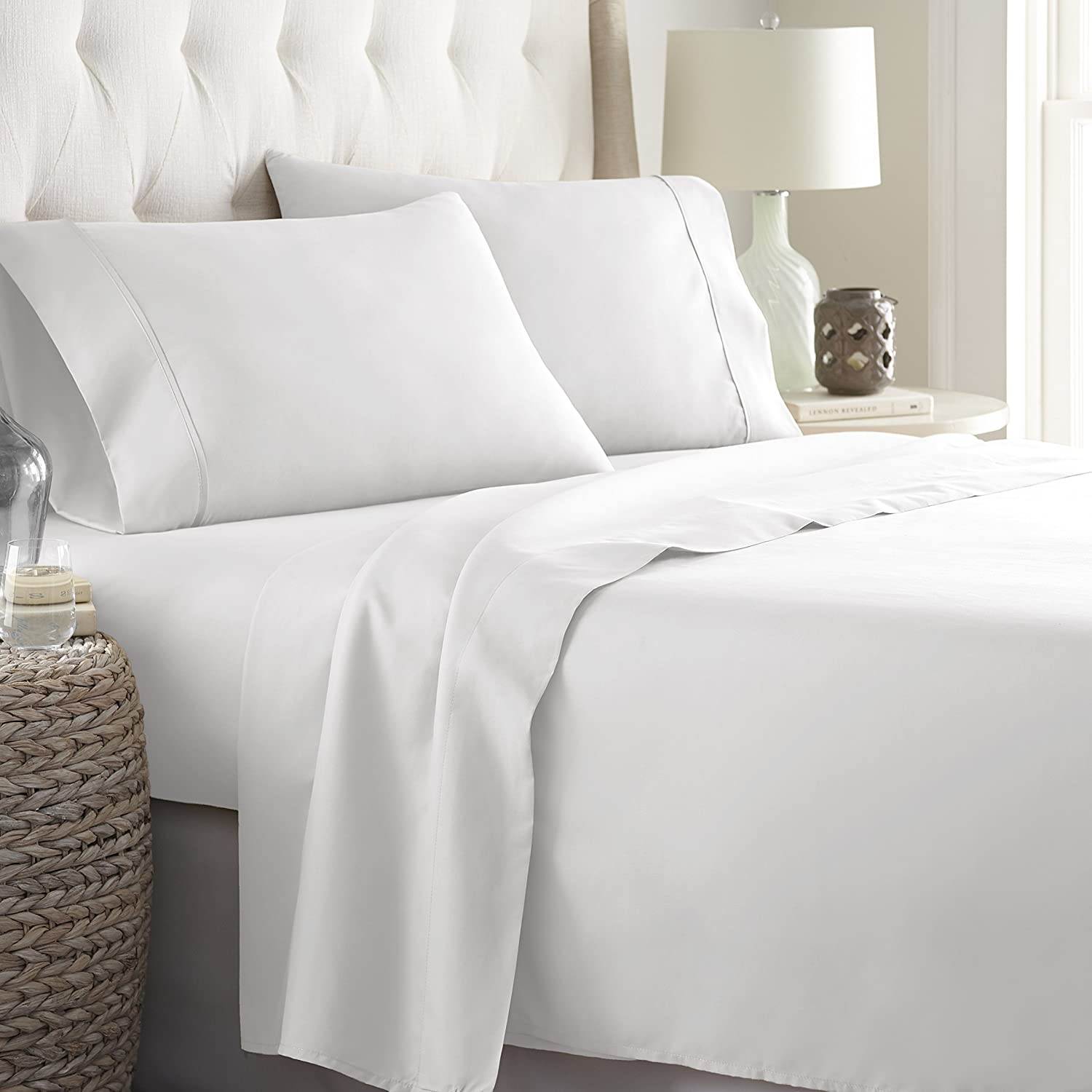 62e99bc2a6 HC Collection Bed Sheets Set, HOTEL LUXURY 1800 Series Platinum Collection Bedding  Set, Deep Pockets, Wrinkle & Fade Resistant, Hypoallergenic Sheet ...