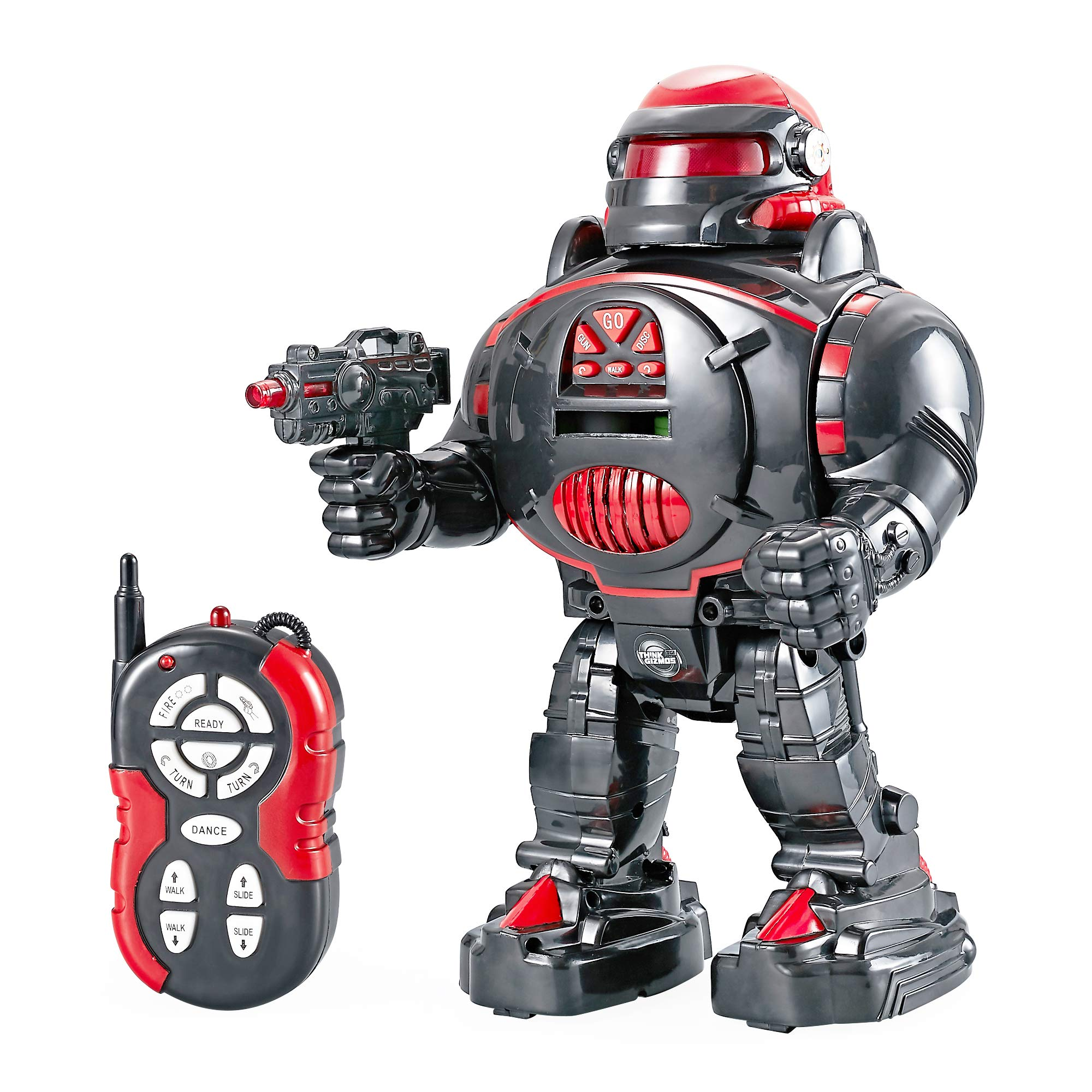 Think Gizmos Remote Control Robot for Kids - RoboShooter Robot Toy for Boys & Girls Aged 5 6 7 8 (Black) by Think Gizmos (Image #4)