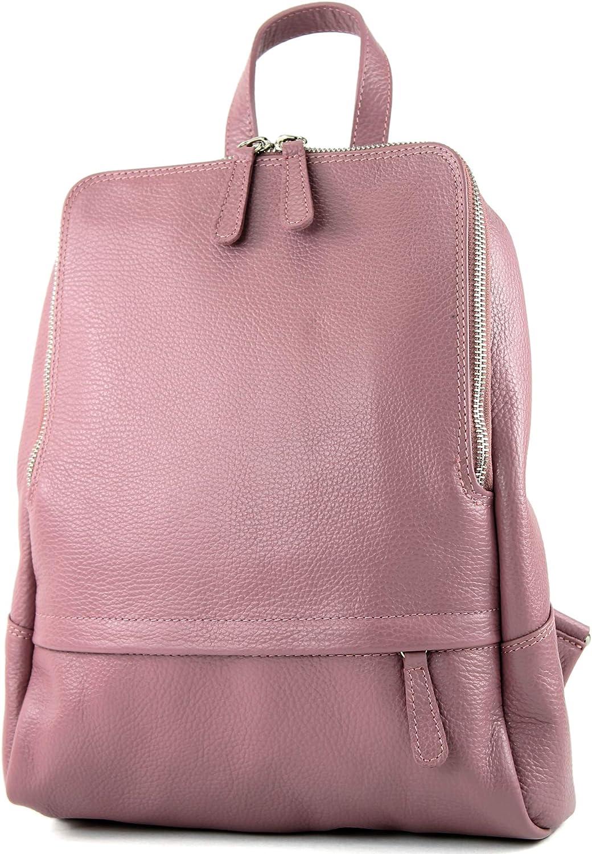 modamoda de T138 ital Damen Rucksacktasche aus Leder