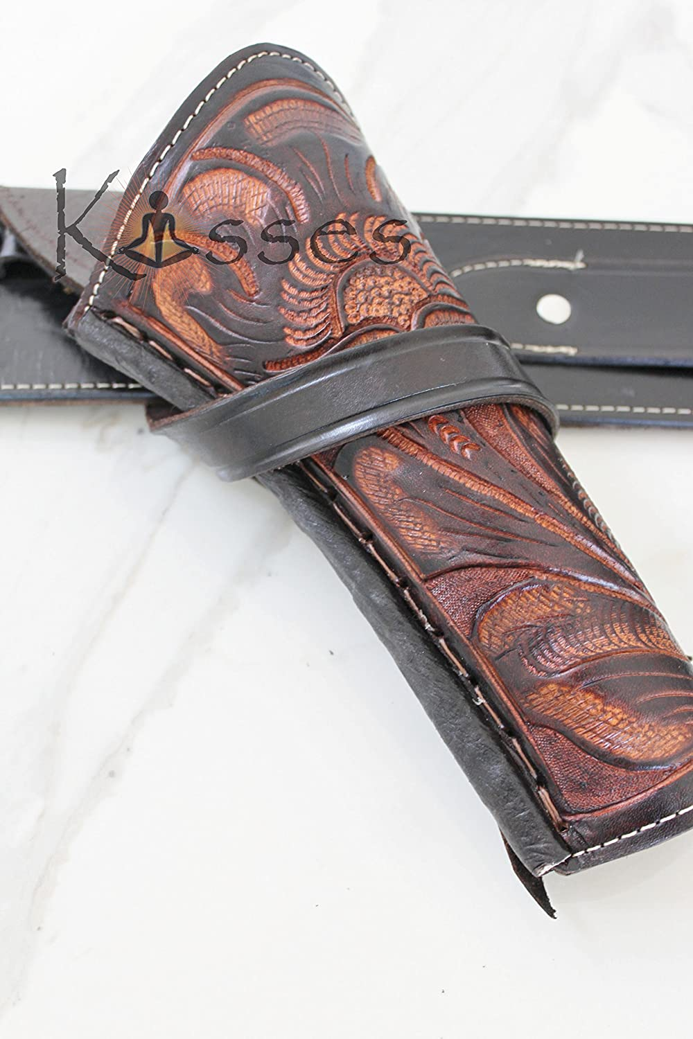 New Right Hand Cross Draw Tooled Leather Case Revolver Holster Western Gun Pistol SASS