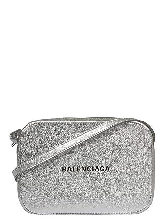 5ab86a3504c5 Balenciaga Women s 55237000R2n1460 Silver Leather Shoulder Bag ...
