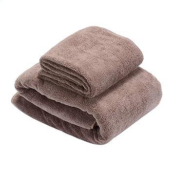 Toallas de Baño, súper suave Juego de Toallas, altamente absorbente Toallas de Manos Microfibra para Ducha, ...