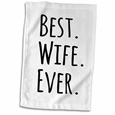 3D Rose Best Wife Ever-Fun Romantic Married Wedded Love Gifts for Her for Anniversary Or Valentines Day Towel, 15  x 22 , Multicolor