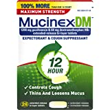 Mucinex DM 12 Hr Max Strength Expectorant & Cough Suppressant Tablets, 28ct,