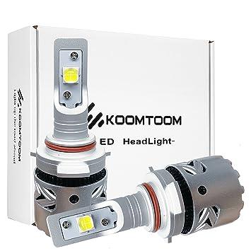 KOOMTOOM LED Kit Bombillas para faros 9012 HIR2 Kit de conversión Cree XHP70 Diseño para chips