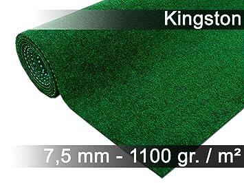 Snapstyle Kingston - Alfombra de césped artificial - para Jardín, Terraza, Balcón - Verde - 13 tamaños: Amazon.es: Jardín