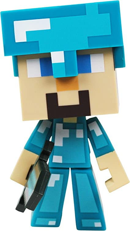 Amazon Com Minecraft Diamond Steve 6 Vinyl Figure Toys Games