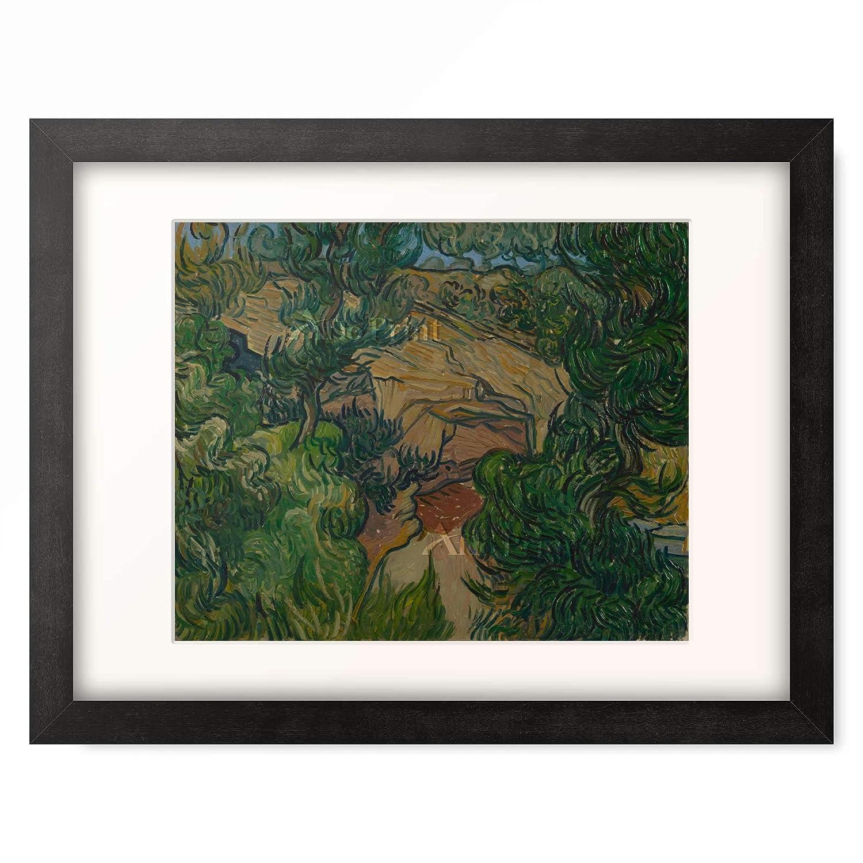 フィンセントファンゴッホ Vincent Willem van Gogh 「Entrance to a quarry」 額装アート作品 B07PGDXQBT 06.木製額 22mm(ブラック) XL(額内寸 727mm×545mm) XL(額内寸 727mm×545mm)|06.木製額 22mm(ブラック)