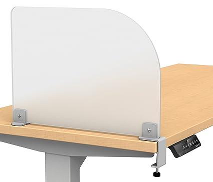 Superbe Merge Works Studio Wing Desktop Privacy Panel U2013 Frosted Acrylic Clamp On Desk  Divider U2013