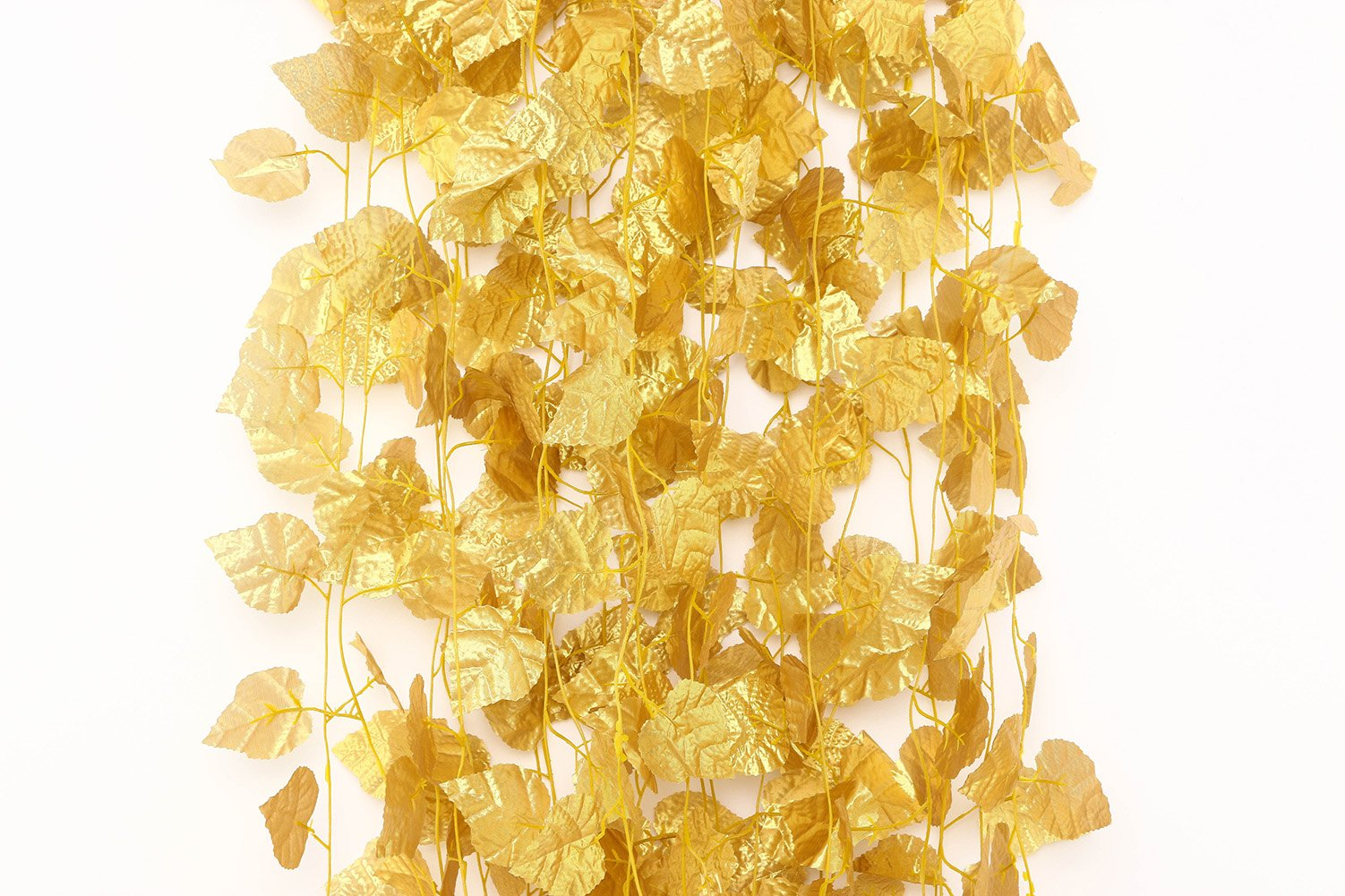 12-Pcs-Artificial-Golden-Grape-Leaves-Vine-Fake-Hanging-Garland-Plants-Greenery-Ivy-for-Wedding-Party-Garden-Outdoor-Christmas-Decoration-Each-79-Ft-Long