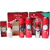 Old Spice Gift Set Bundle for Men – 5 Items – 1 Aftershave + 2 Antiperspirant Deo + 2 Shower Gel
