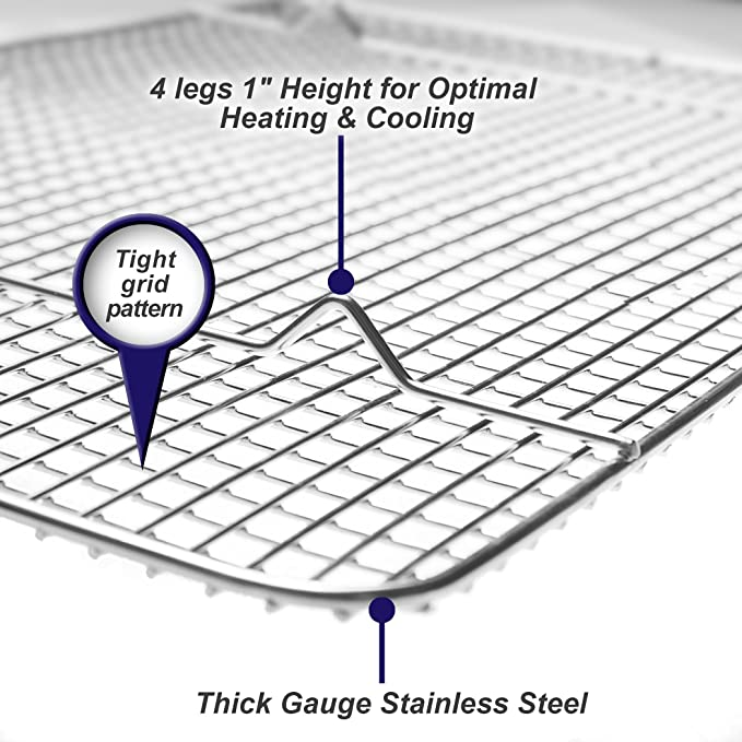 Amazon.com: Rejilla de alambre grueso para hornear o enfriar ...