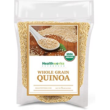 top selling Healthworks Quinoa White Whole Grain Raw Organic