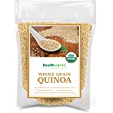 Healthworks Quinoa White Whole Grain Raw Organic (80 Ounces / 5 Pounds) | Protein, Fiber & Iron | Peruvian Origin | Rice & Pasta Substitute