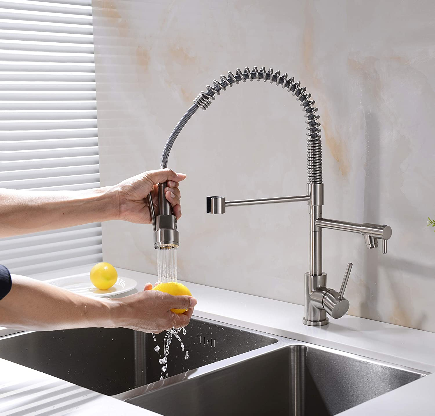 Amazon coupon code for Kitchen Faucet Brushed Nickel