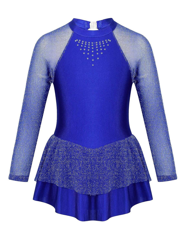 CHICTRY Vestido de Ballet para niña, Manga Larga, de Ballet, con ...
