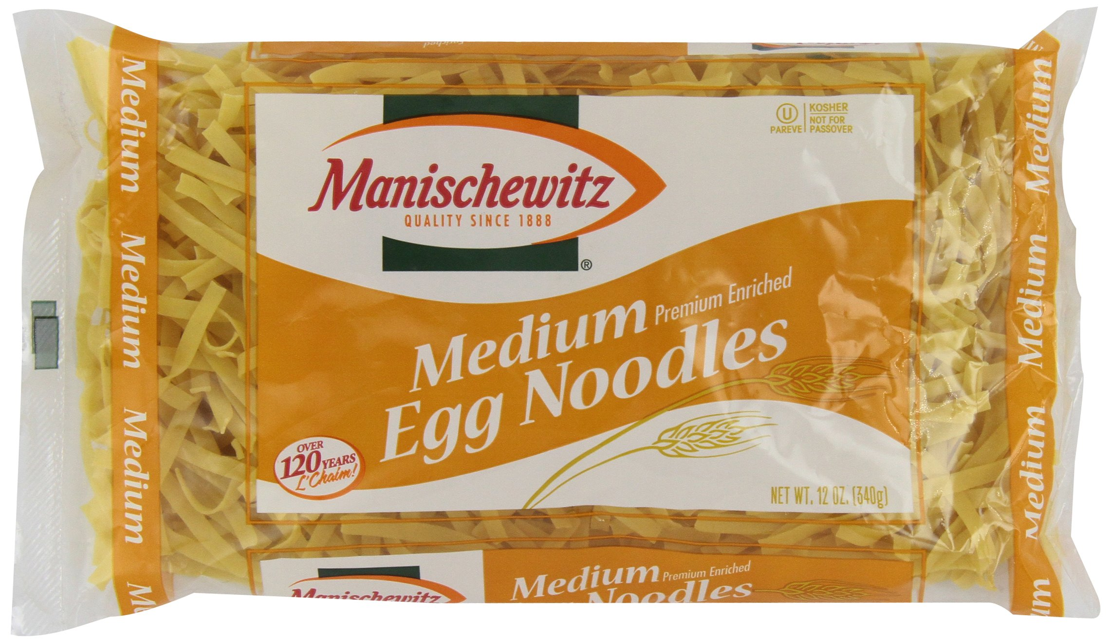 Manischewitz, Medium Noodles, 12 oz