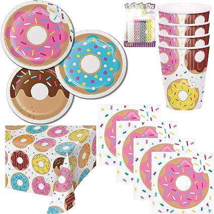 Amazon.com: Donut – Paquete de suministros para fiestas ...