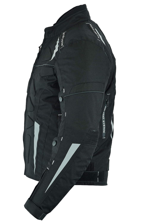 LeatherTeknik Moto blind/é haute protection en Cordura imperm/éable pour homme Noir Cj-9434