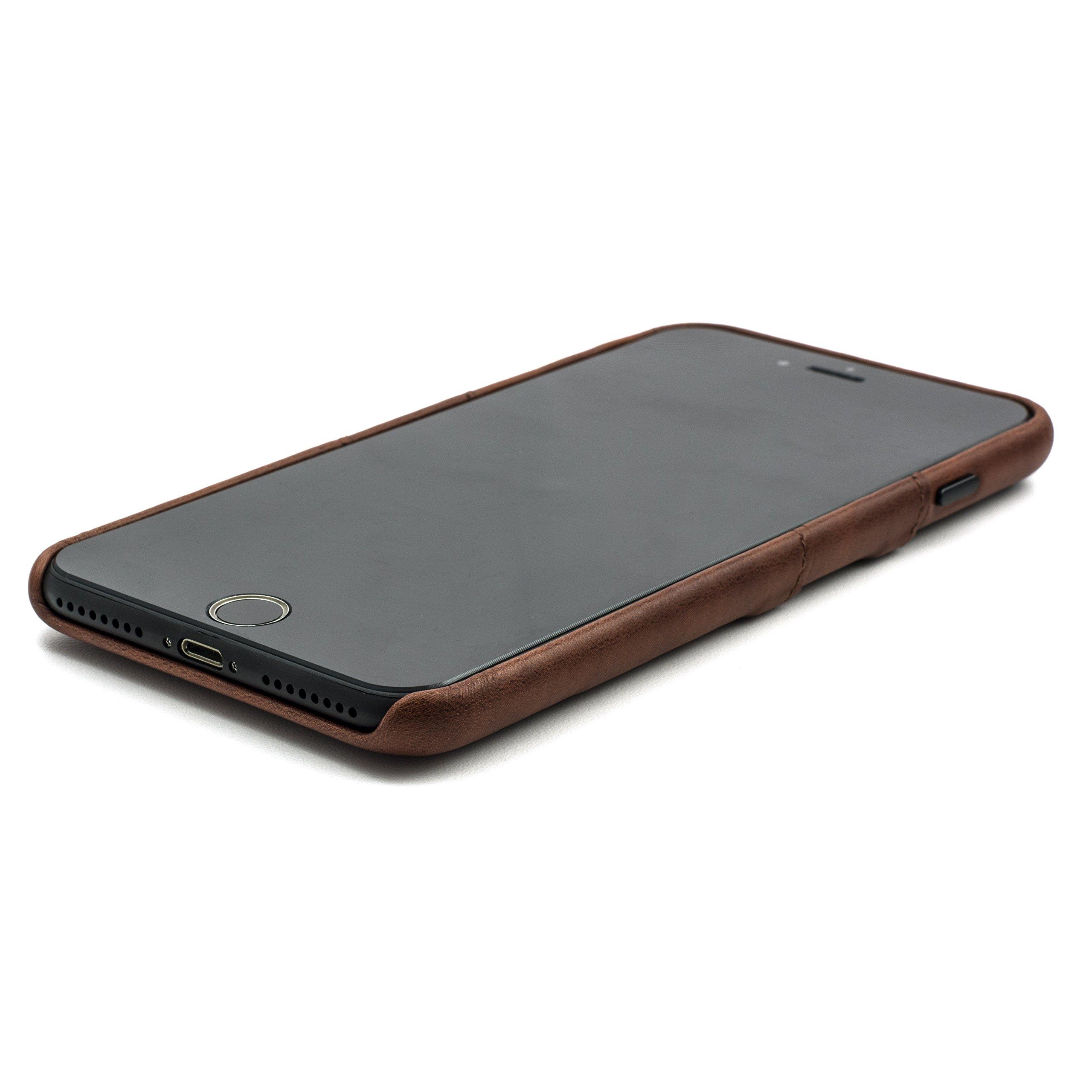 64b341c6e05e9 ... Dockem Exec Wallet Case for iPhone 8 Plus7 Plus - Slim Vintage  Synthetic Leather Card Case ...