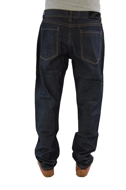 Alpinestars Men's PULP Jeans Straight Leg Relaxed Denim Pants,32, Black