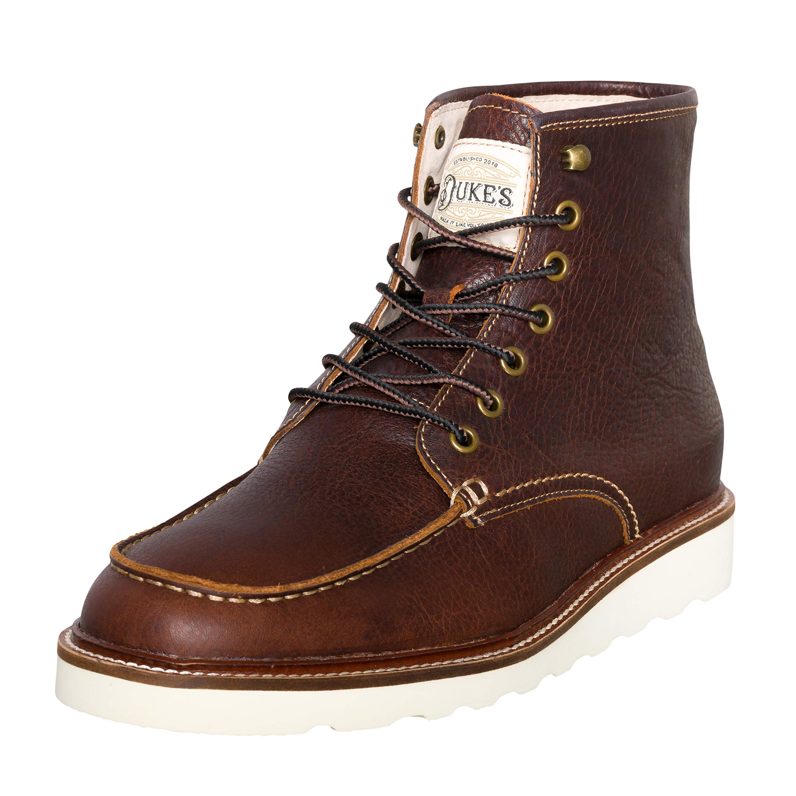 Duke's Mens Boots - Winslow Leather Boot with Premium Cushion Insole (Cognac) by Duke's