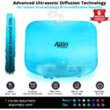 Allin Exporters Humidifier & Aroma Diffuser Ultrasonic, 2 In 1 With 500 Ml Tank Capacity With 7 Colorful Led Light Settings
