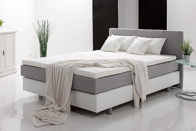 Unbekannt Schlafzimmer Komplett Set Weiss Mit Boxspringbett 180x200cm Schwebeturenschrank B 136cm Amazon De Kuche Haushalt