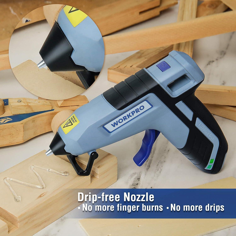 WORKPRO Pistola de Silicona Caliente Pistola de Pegamento con 20 Piezas de Barras Pistolas de Encolar Alta Temperatura Ideal para Manualidades Bricolaje y Reparaci/ón