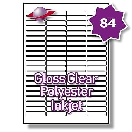 84 por página/hoja 10 hojas (840 diminuta transparente etiquetas ...