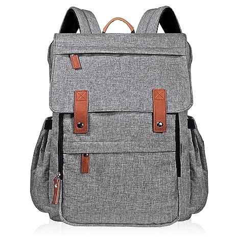 Mochila con bolsa de pañales Multi-Función Mochila de pañales de viaje de gran capacidad