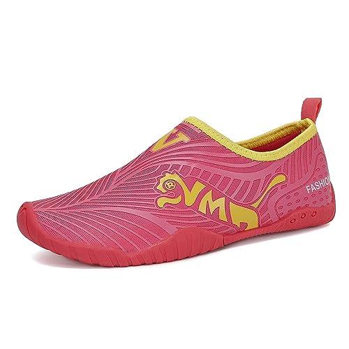 FLARUT Zapatos Agua Zapatillas Calzado de Agua Transpirable Rápida de Secado para La Piscina de Playa Surf Yoga Niños Niñas Al Aire Libre: Amazon.es: ...