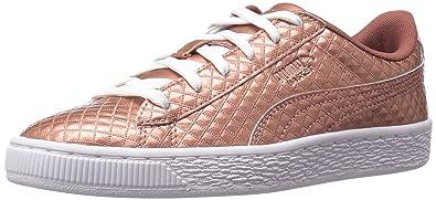 brand new 65d94 fb567 PUMA Basket Met Emboss Kids Sneaker