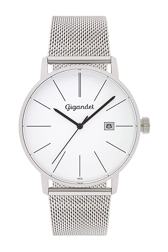 G42 Gigandet Quarz Analog Edelstahlarmband Silber Minimalism Herren 005 Milanaise Armbanduhr 3Rq5AL4j