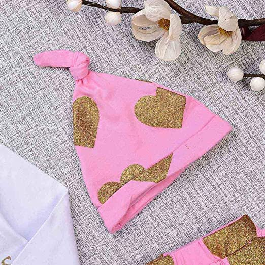 Amazon.com: SRYSHKR 4PCS Toddler Baby Letter Print Romper+Heart Print Pants+Hat+Headband Set Outfit: Clothing