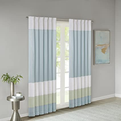 Incroyable Madison Park Green Curtains For Living Room, Transitional Rod Pocket Light Curtains  For Bedroom,