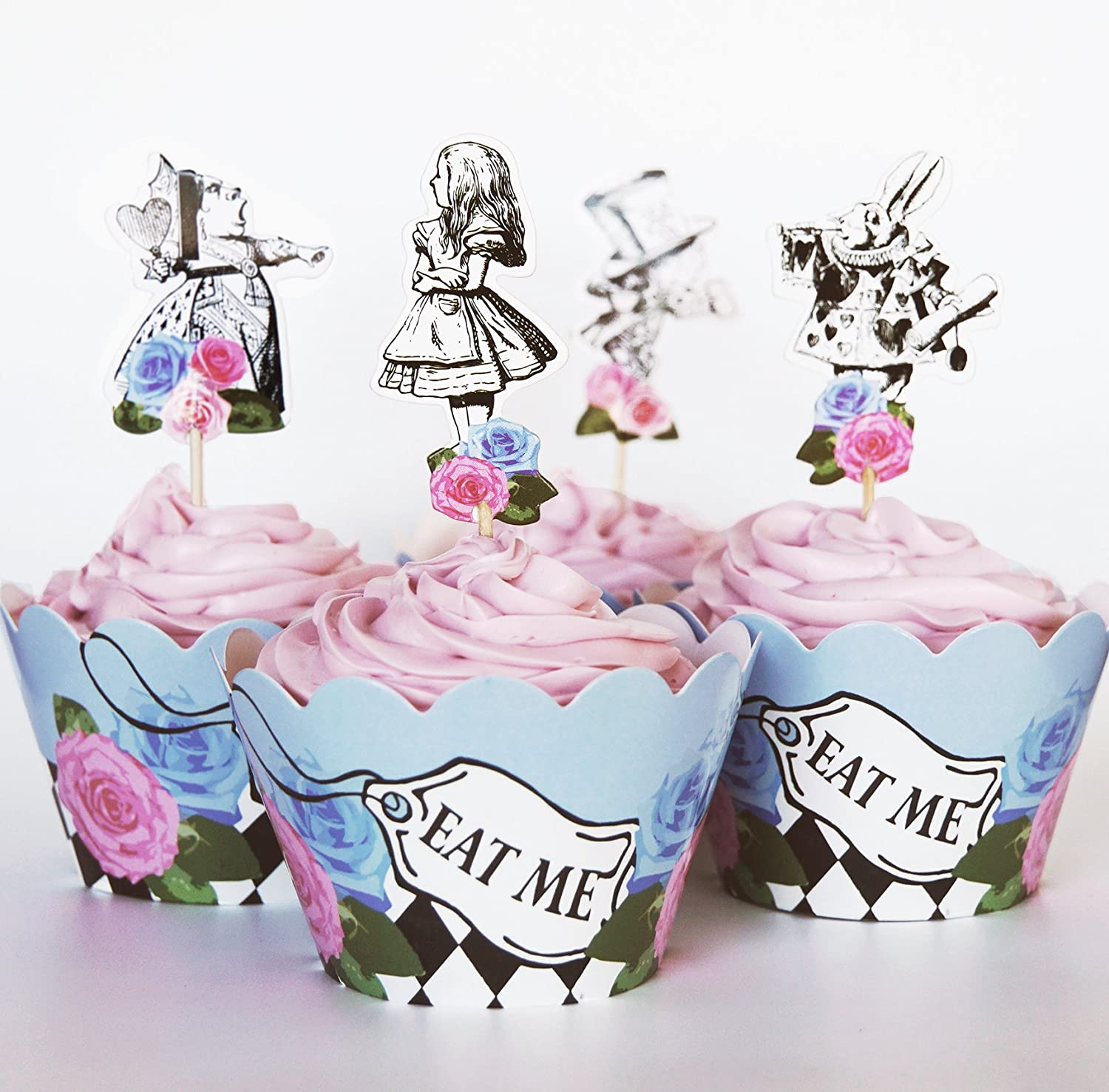 Alice in Wonderland Cupcake Kits | Birthday Wikii