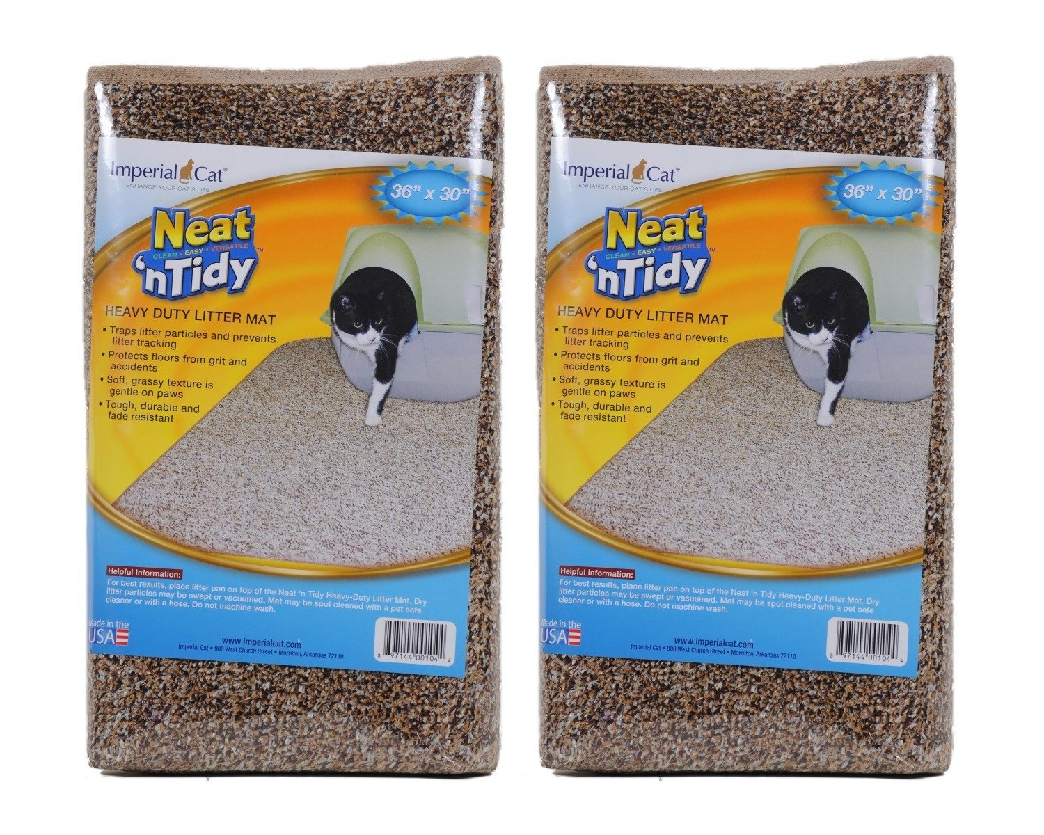 Neat N Tidy Litter Mat by Imperial Cat, Brown (Pack of 2)