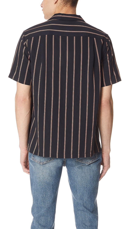 Vince Mens Vintage Stripe Cabana Short Sleeve Shirt