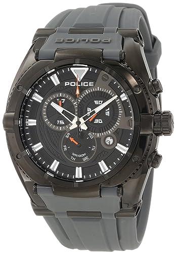 Police PL.13092JSB-02A - Reloj analógico de Cuarzo para Hombre con Correa de Silicona, Color Gris: Police: Amazon.es: Relojes