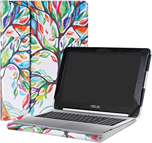 """Alapmk Protective Case Cover for 10.1"""" ASUS Chromebook Flip C100PA C101PA Series Laptop(Warning:Not fit ASUS Chromebook Flip C201PA/C202SA/C213SA/C302CA/C300SA),Love Tree"""